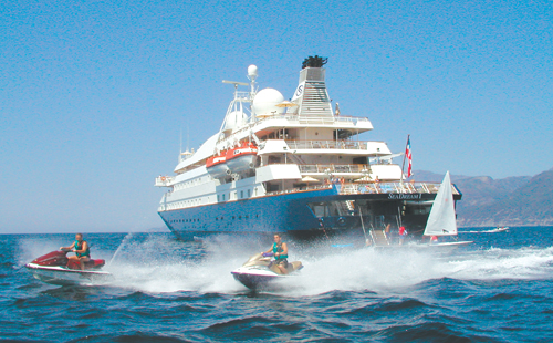 Expats enjoying their holiday abroad